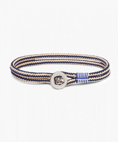 Armband Don Dino Navy Sand Silver Gr.M/L