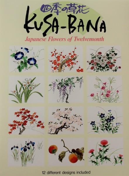 Briefpapier Japanische Blumen