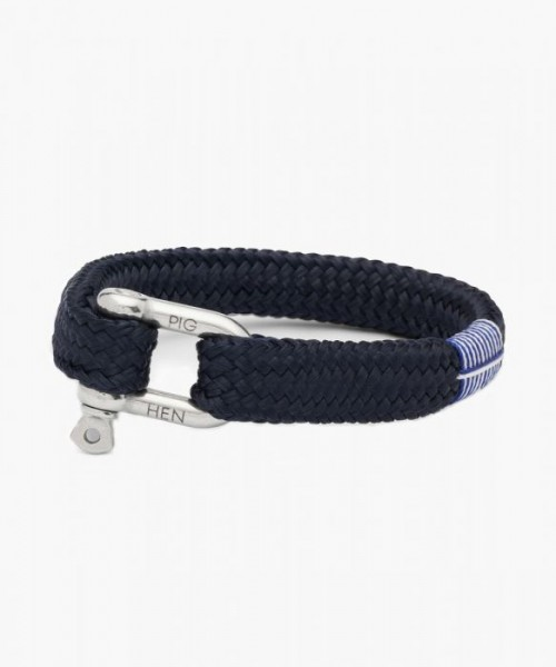 Armband Gorgeous George Navy Silver Gr. L