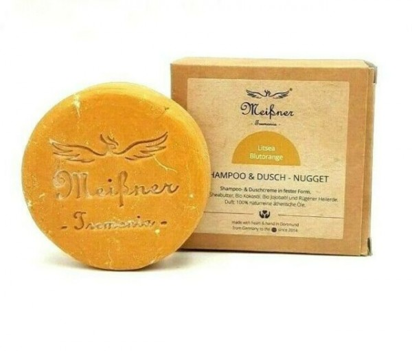 Litsea-Blutorange Shampoo- & Dusch-Nugget