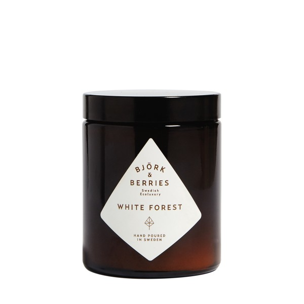 White Forest Candle